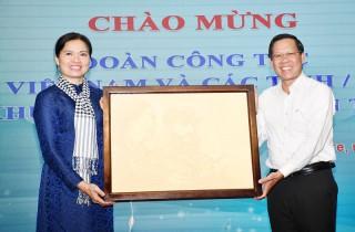 Chủ tịch Hội Liên hiệp Phụ nữ Việt Nam Hà Thị Nga làm việc tại tỉnh
