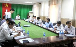 Phó chủ tịch UBND tỉnh làm việc với đối tác dự án Trạm bơm nước thô Cái Bè