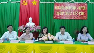 Đại biểu HĐND tỉnh tiếp xúc cử tri huyện Bình Đại và Thạnh Phú