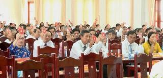 Đại hội đại biểu Đảng bộ huyện Giồng Trôm tiến hành phiên trù bị