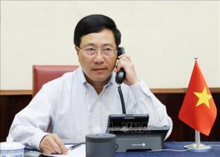 Phó thủ tướng Phạm Bình Minh điện đàm với Ngoại trưởng Hoa Kỳ Michael Pompeo