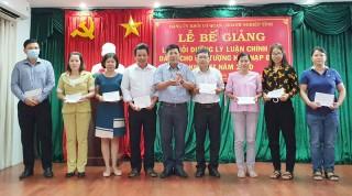 Bế giảng lớp bồi dưỡng lý luận chính trị dành cho đối tượng kết nạp Đảng