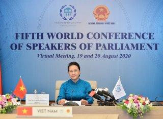 Chủ tịch Quốc hội dự Hội nghị Thượng đỉnh các chủ tịch quốc hội thế giới