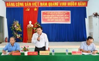 Ban Kinh tế và Ngân sách HĐND tỉnh tiếp xúc cử tri ở Thạnh Phú Đông