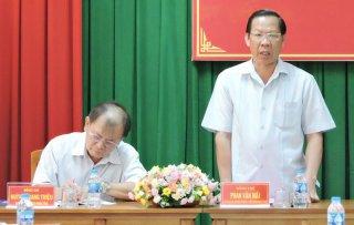 Bí thư Tỉnh ủy làm việc với Ban Thường vụ Huyện ủy Châu Thành