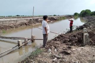 Ðường dẫn nước mới trên rạch Trại được khơi thông