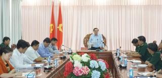 Phó bí thư Thường trực Tỉnh ủy làm việc với Đảng ủy Bộ đội Biên phòng tỉnh