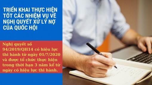Hướng dẫn hồ sơ, thủ tục xử lý nợ theo Nghị quyết số 94 của Quốc hội