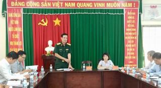 Ban Chỉ huy phòng chống thiên tai và tìm kiếm cứu nạn tỉnh Bến Tre kiểm tra tại huyện Châu Thành