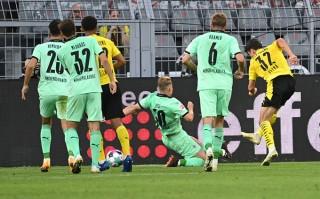 Haaland & Sancho chói sáng mang về 3 điểm ra quân cho Dortmund