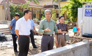 Kiểm tra tiến độ xây dựng Khu lưu niệm Nguyễn Sinh Sắc