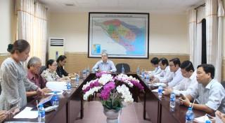 Kiểm tra công tác chuẩn bị mít-tinh chào mừng thành công Đại hội Đảng bộ tỉnh lần thứ XI