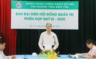 Họp Ban đại diện Hội đồng quản trị Ngân hàng Chính sách xã hội quý III-2020