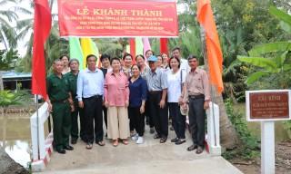 Khánh thành công trình cầu chào mừng Đại hội XI Đảng bộ tỉnh