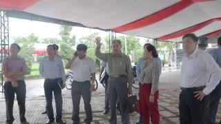 Kiểm tra công tác chuẩn bị lễ công bố huyện Chợ Lách đạt chuẩn nông thôn mới