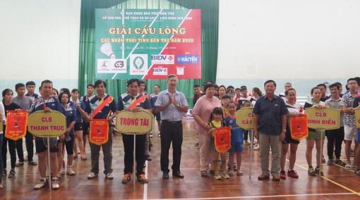 Khai mạc Giải Cầu lông các nhóm tuổi tỉnh Bến Tre năm 2020
