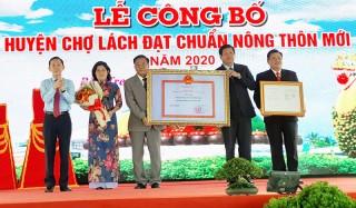 Công bố Chợ Lách đạt chuẩn huyện nông thôn mới