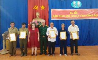 Hội Cựu chiến binh Châu Thành bàn giao 5 căn nhà Nghĩa tình đồng đội