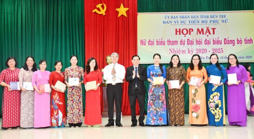 Họp mặt nữ đại biểu tham dự Đại hội đại biểu Đảng bộ tỉnh, nhiệm kỳ 2020-2025