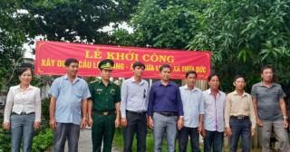 Thừa Đức khởi công xây cầu Lộ Ngang ấp Thừa Long