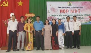 Giồng Trôm họp mặt kỷ niệm 90 năm Ngày thành lập Hội Liên hiệp Phụ nữ Việt Nam