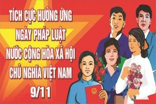 Hưởng ứng Ngày Pháp luật Việt Nam năm 2020