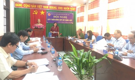 Hội nghị lấy ý kiến về các dự án luật