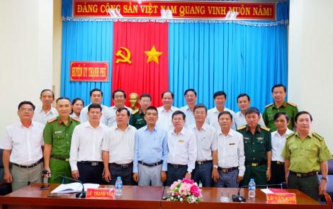 Ban Nội chính Tỉnh ủy làm việc với Ban Thường vụ Huyện ủy Thạnh Phú