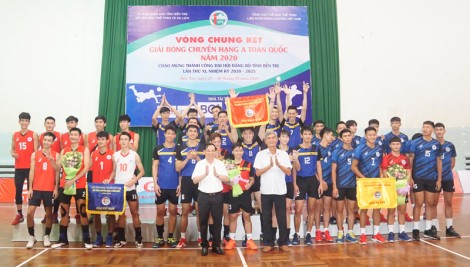 Bến Tre vô địch Giải Bóng chuyền hạng A toàn quốc giành vé thăng hạng đội mạnh