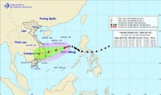 Cường độ và hướng di chuyển bão số 10 thay đổi nhanh, khó dự báo