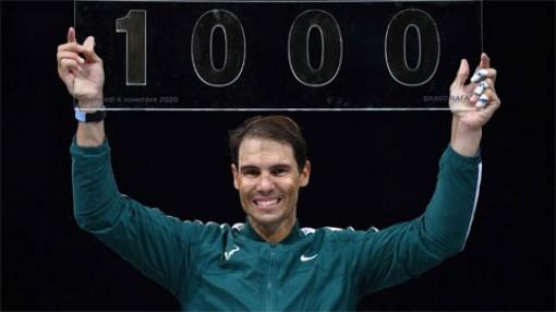 Nadal thắng trận thứ 1000 trong sự nghiệp
