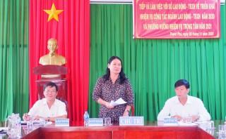Sở Lao động - Thương binh và Xã hội kiểm tra kết quả triển khai nhiệm vụ của ngành tại Thạnh Phú