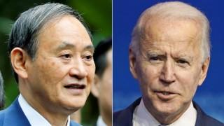 Thủ tướng Nhật Bản Suga điện đàm với ông Joe Biden