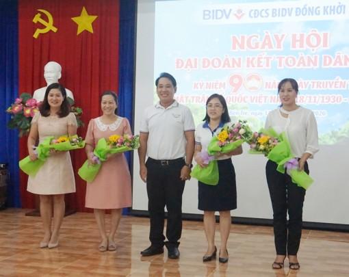Công đoàn cơ sở BIDV Đồng Khởi tổ chức họp mặt, giao lưu kỷ niệm Ngày hội Đại đoàn kết toàn dân tộc