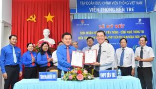 Tỉnh Đoàn ký kết thỏa thuận hợp tác với VNPT Bến Tre về viễn thông - công nghệ thông tin