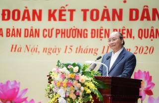 Thủ tướng dự Ngày hội Đại đoàn kết toàn dân tộc tại phường Điện Biên, Hà Nội