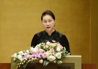 Chủ tịch Quốc hội Nguyễn Thị Kim Ngân phát biểu bế mạc Kỳ họp thứ 10, Quốc hội khóa XIV