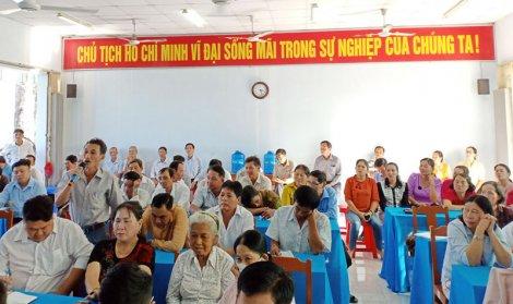 Đại biểu Quốc hội đơn vị tỉnh tiếp xúc cử tri sau Kỳ họp thứ 10