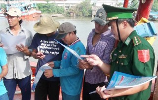 Đồn Biên phòng Cửa Đại thi đua bảo vệ chủ quyền an ninh biên giới biển gắn với học tập và làm theo Bác