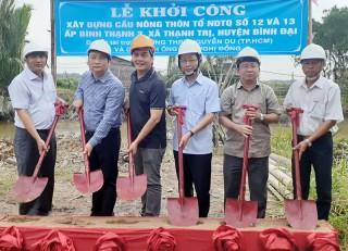 Phó chủ tịch UBND tỉnh dự lễ khởi công xây dựng cầu tại huyện Bình Đại