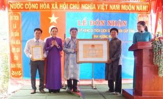 Lễ đón nhận bằng xếp hạng di tích cấp tỉnh Đình Hương Mỹ