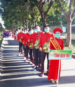 Đoàn thể thao Bến Tre tham dự Đại hội thể thao đồng bằng sông Cửu Long