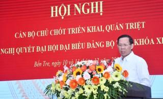 Hội nghị trực tuyến quán triệt Nghị quyết Đại hội XI Đảng bộ tỉnh