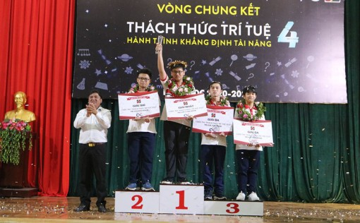 """Nguyễn Đỗ Duy Quân đạt giải nhất cuộc thi """"Thách thức trí tuệ"""""""