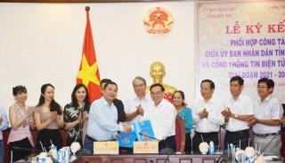 Ký kết Chương trình hợp tác giữa Cổng Thông tin điện tử Chính phủ và UBND tỉnh Bến Tre
