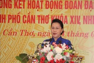 Chủ tịch Quốc hội dự họp mặt kỷ niệm 75 năm Ngày Tổng tuyển cử đầu tiên tại Cần Thơ