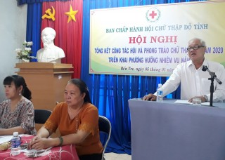 Hội Chữ thập đỏ tổng kết năm 2020, triển khai phương hướng nhiệm vụ năm 2021