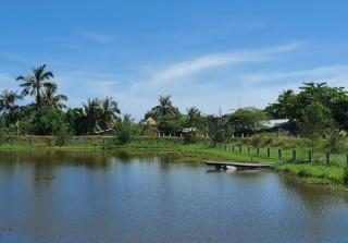 Bơm thêm 105 ngàn m3 nước ngọt vào hồ chứa nước ngọt huyện Ba Tri