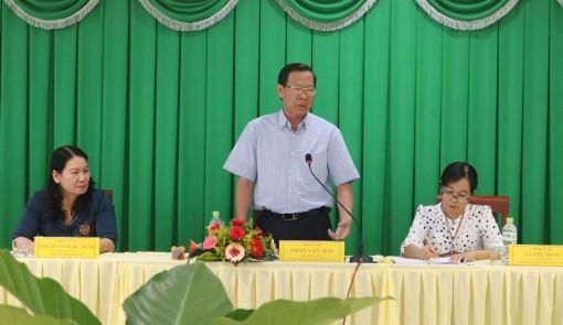 Bí thư Tỉnh ủy làm việc với Sở Giáo dục và Đào tạo
