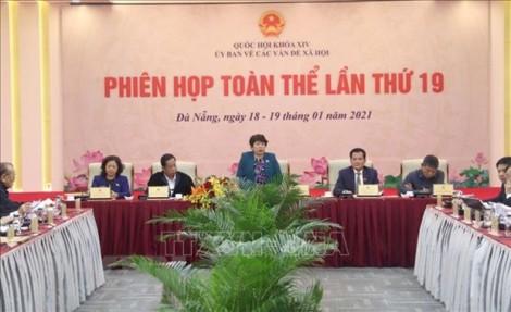 Phiên họp toàn thể lần thứ 19 Ủy ban về các vấn đề xã hội của Quốc hội